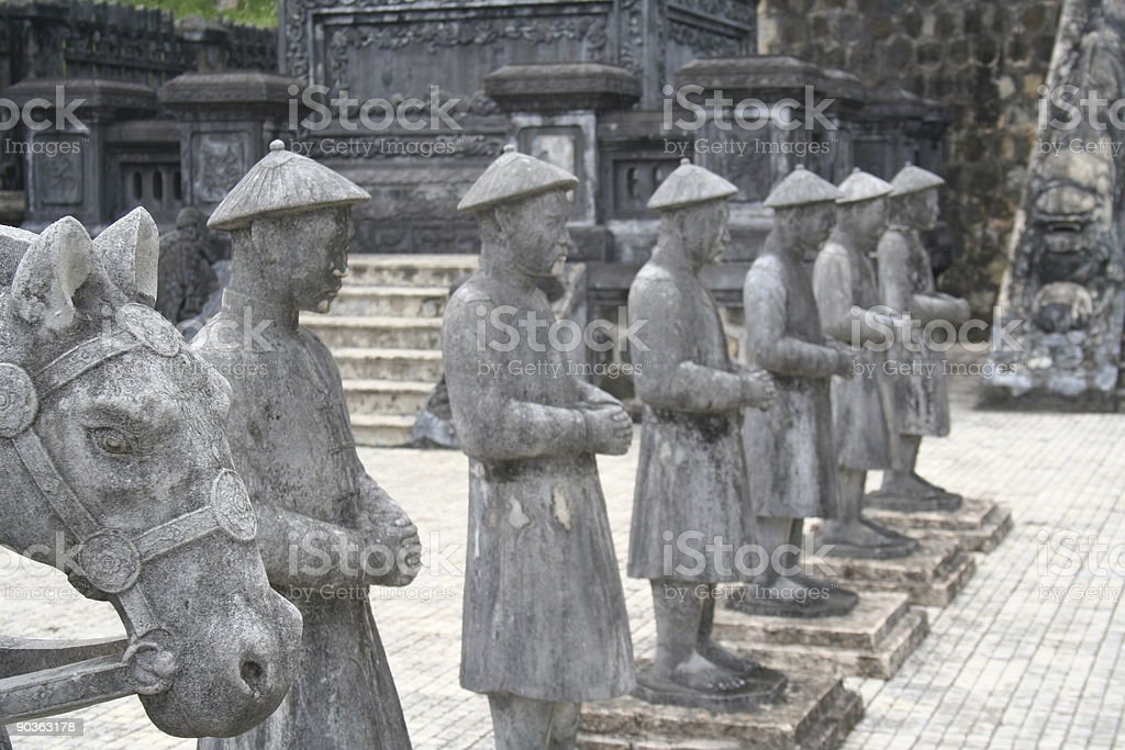 statue emporer army in stone Vietnam Huey royalty-free stock photo