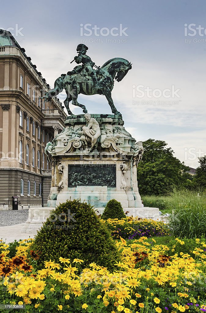 Statue Eugene of Savoy, Buda Castle royalty-free stock photo