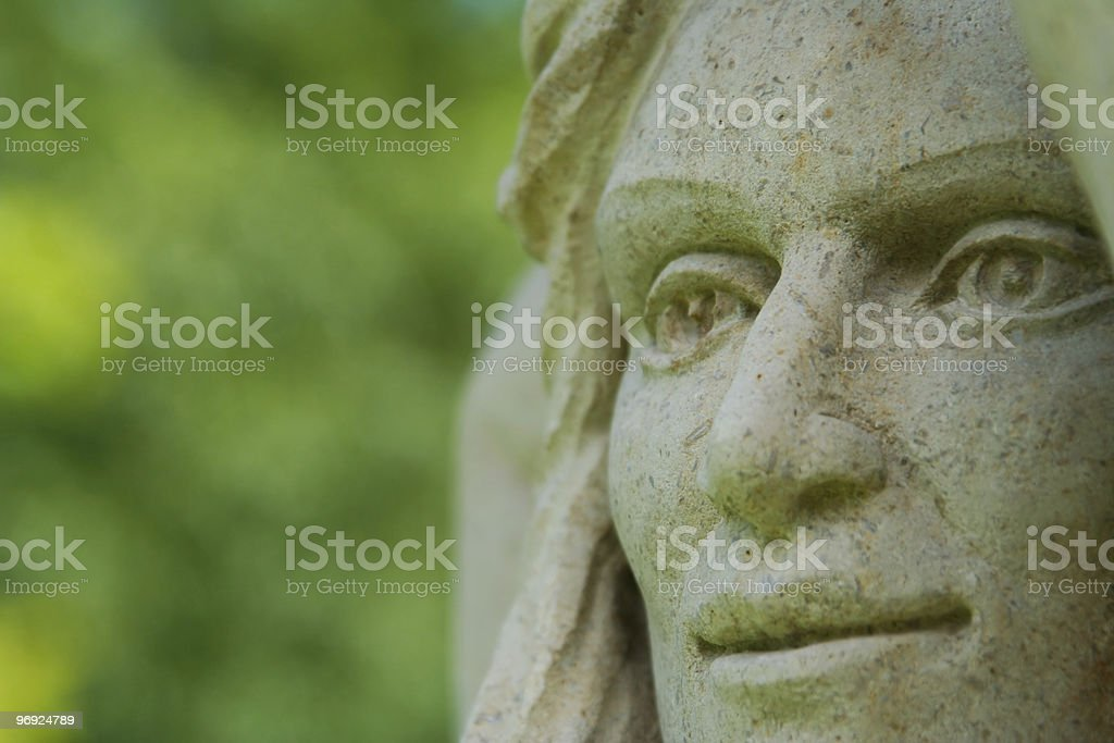 Statue face royalty-free stock photo