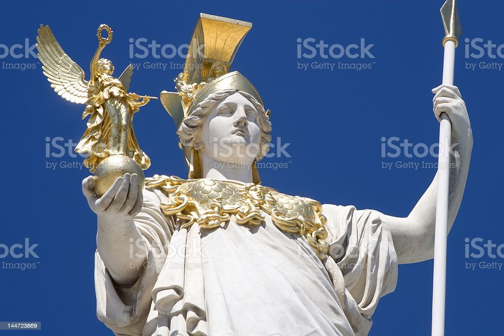 statue for vienna parliament - pant stock photo