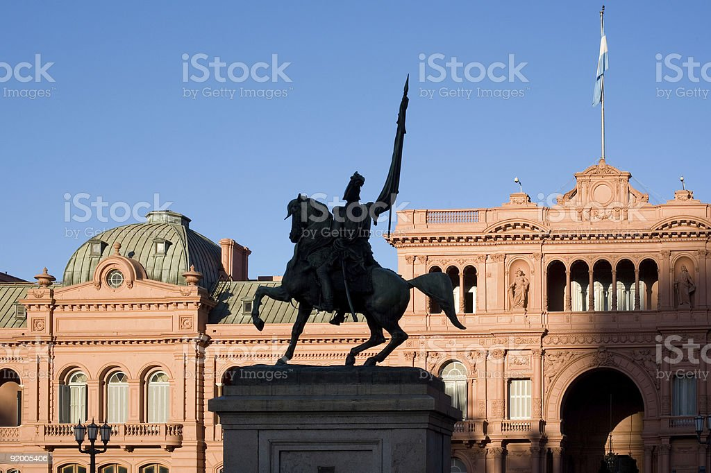 A statue from the city of Buenos Aires in Argentina stock photo