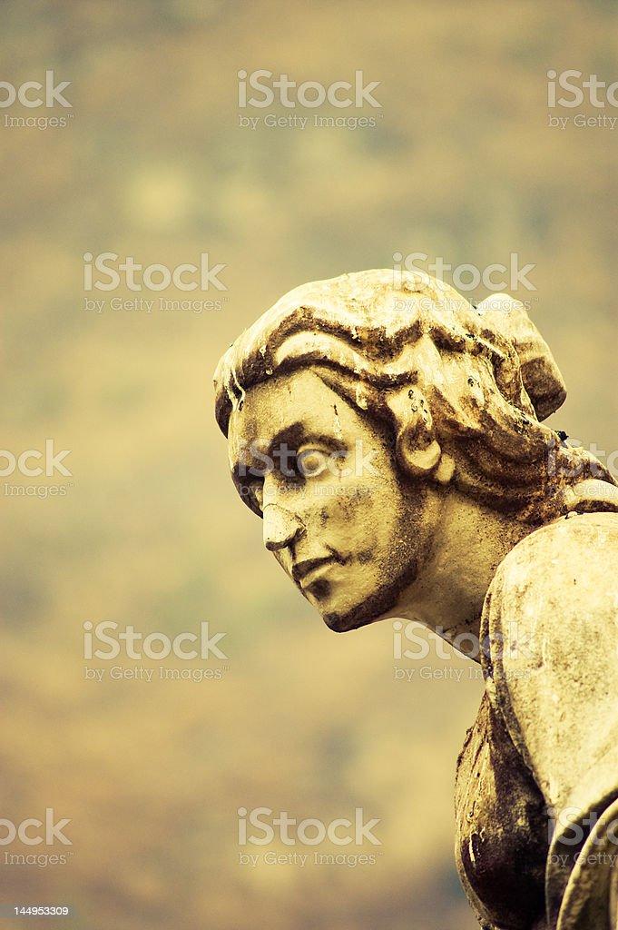 Statue head stock photo