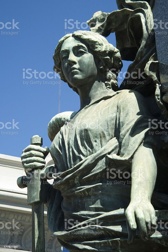 Statue in a cemetery royalty-free stock photo