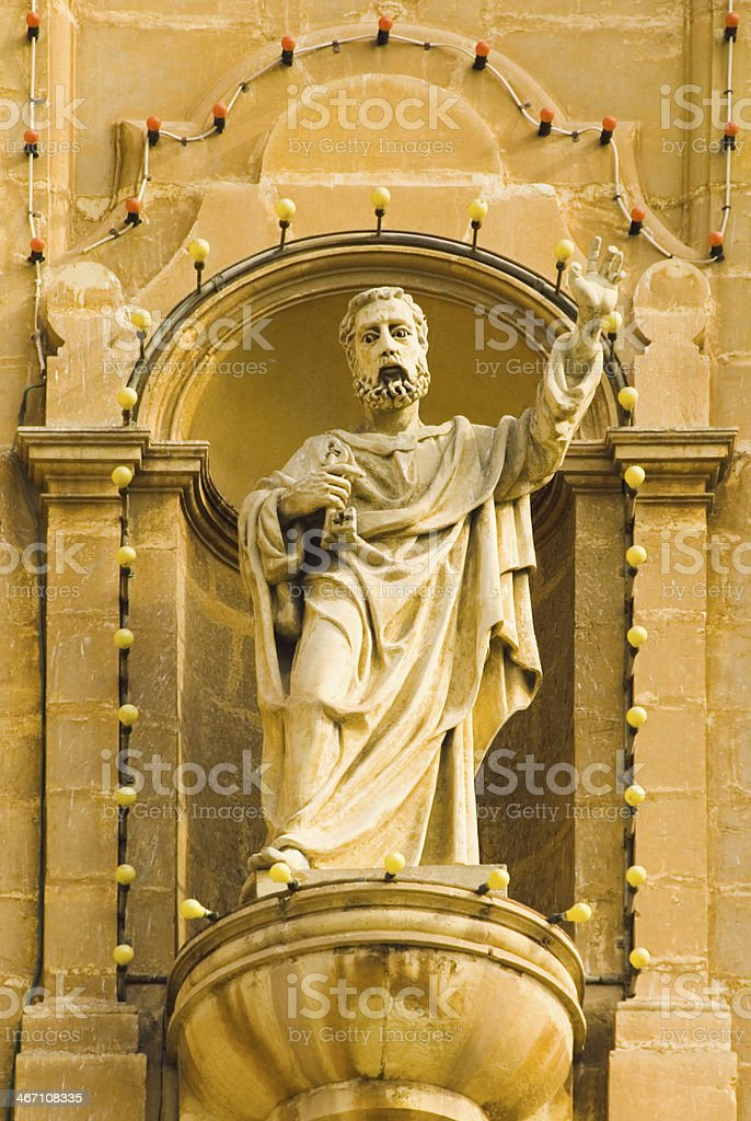 Statue in a church royalty-free stock photo