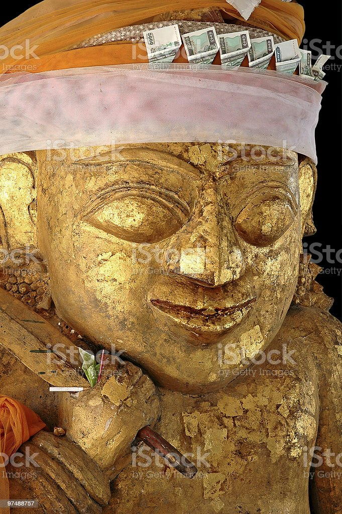 Statue in a pagoda royalty-free stock photo