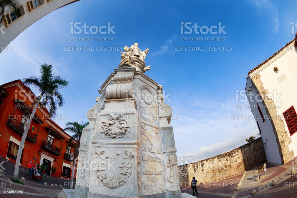 Statue in Cartagena stock photo