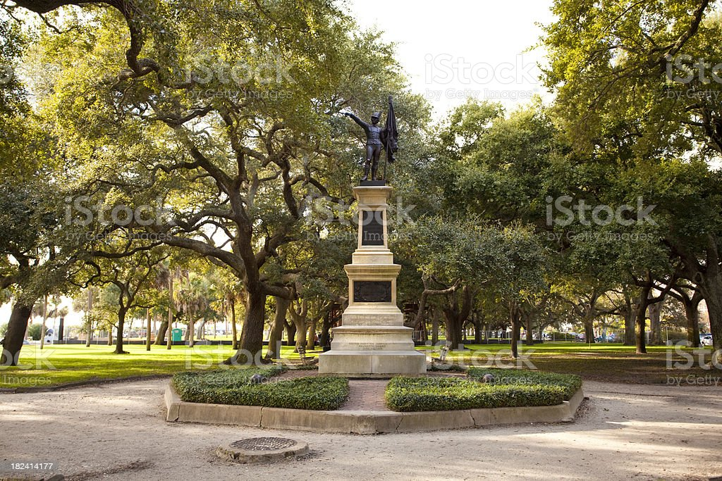 Statue in Charleston SC royalty-free stock photo