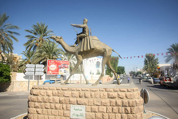 Statue in Douz stock photo