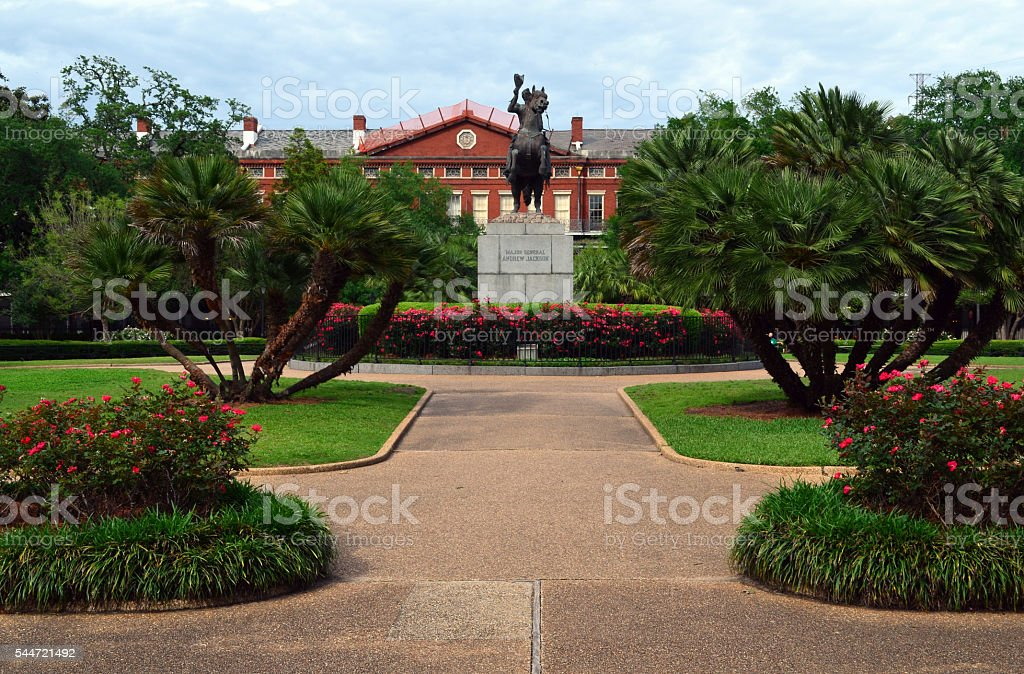 Statue in Jackson Square, French Quarter, New Orleans stock photo