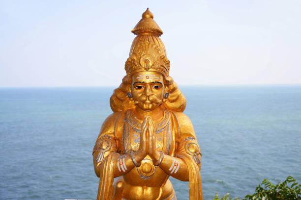 Statue in Koneswaram Hindu Temple, Trincomalee, Sri Lanka stock photo