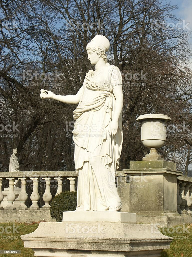 Statue in Luxembourg garden (Paris) royalty-free stock photo