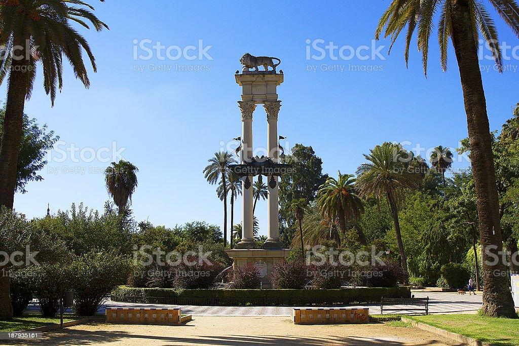 Statue in Murillo Gardens, Sevilla. royalty-free stock photo