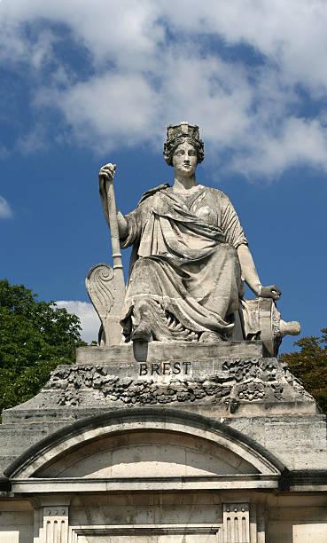Statue de la place de la concorde représenter Brest - Photo