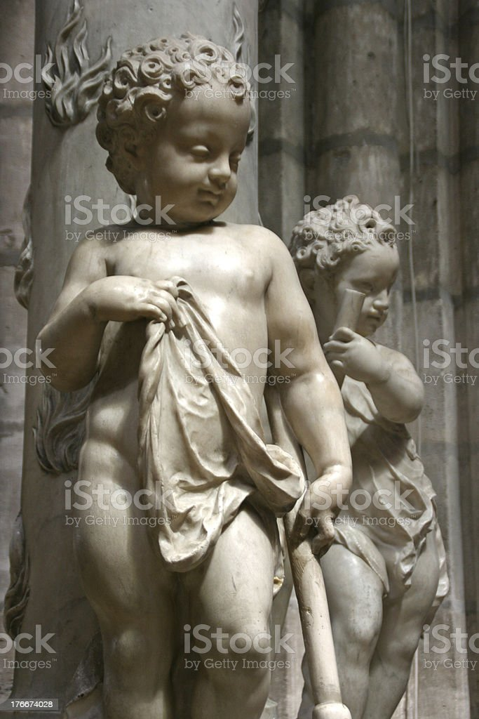 Statue in Saint Denis Basilica, France royalty-free stock photo