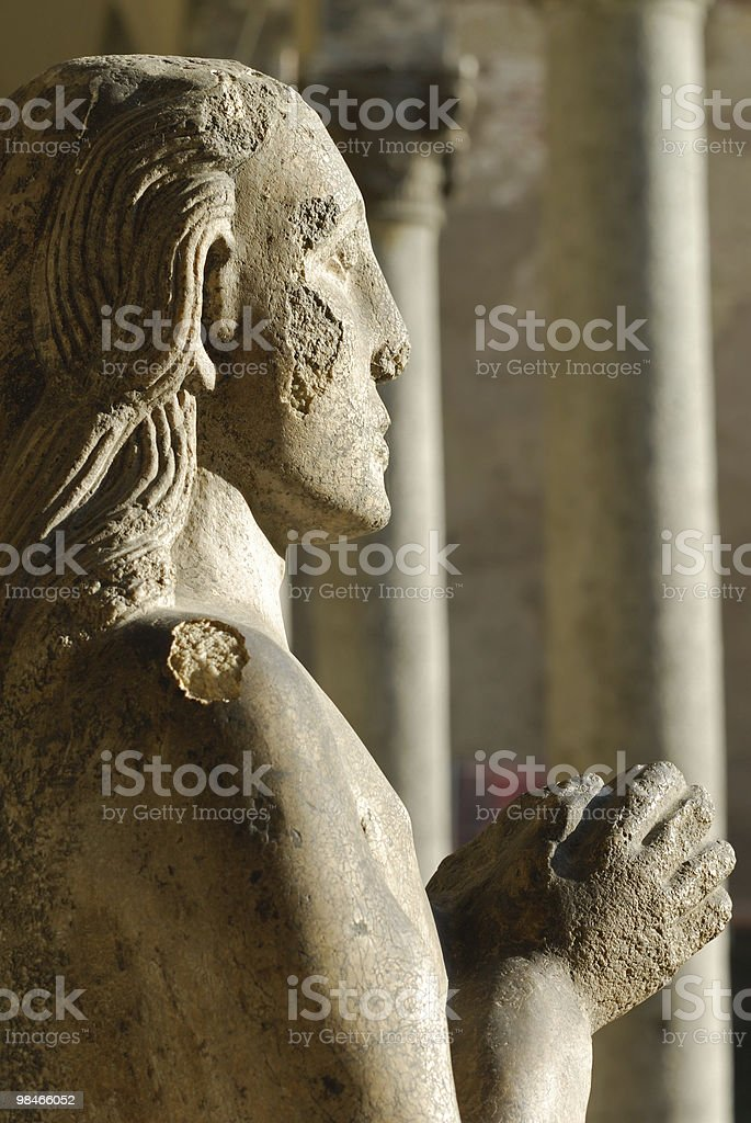 Statue in the Castello Sforzesco (Milan, Italy) royalty-free stock photo