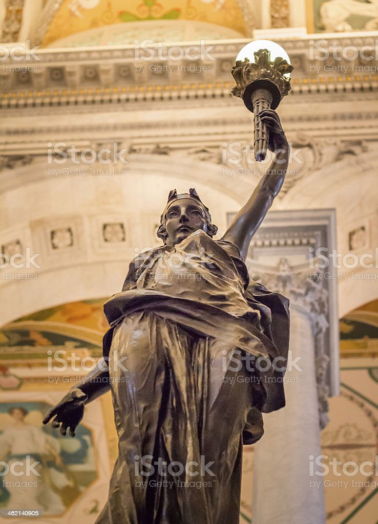 Statue in the Library of Congress stock photo