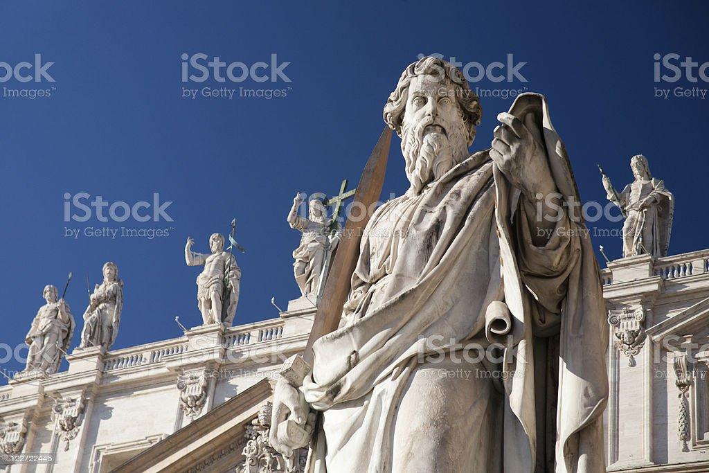 Statue in Vatican stock photo