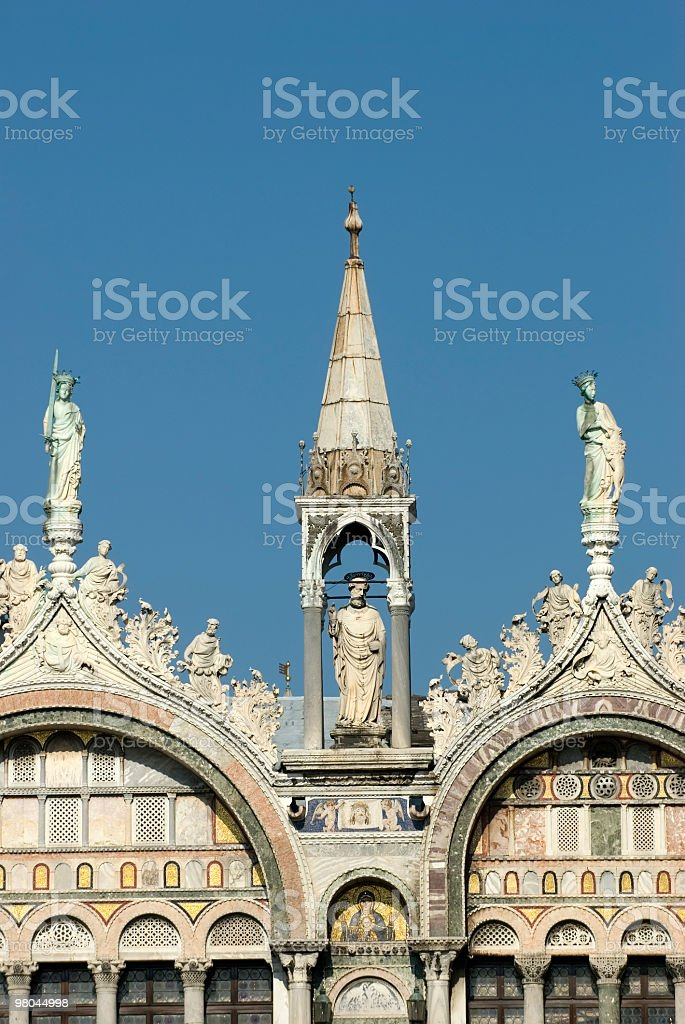 statue in venice royalty-free stock photo