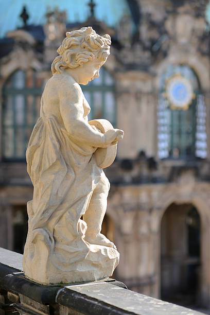 "Statue in Zwinger Museum ""Vertical shot of statue in Zwinger Museum. Dresden, Germany."" zwanger stock pictures, royalty-free photos & images"