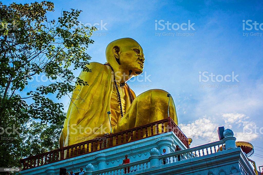 statue kruba srivichai  lamphun royalty-free stock photo