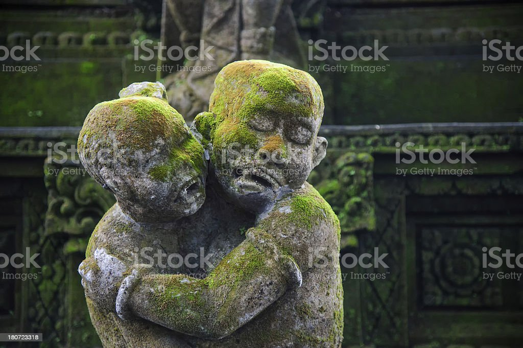 Statue made of Stone in bali royalty-free stock photo