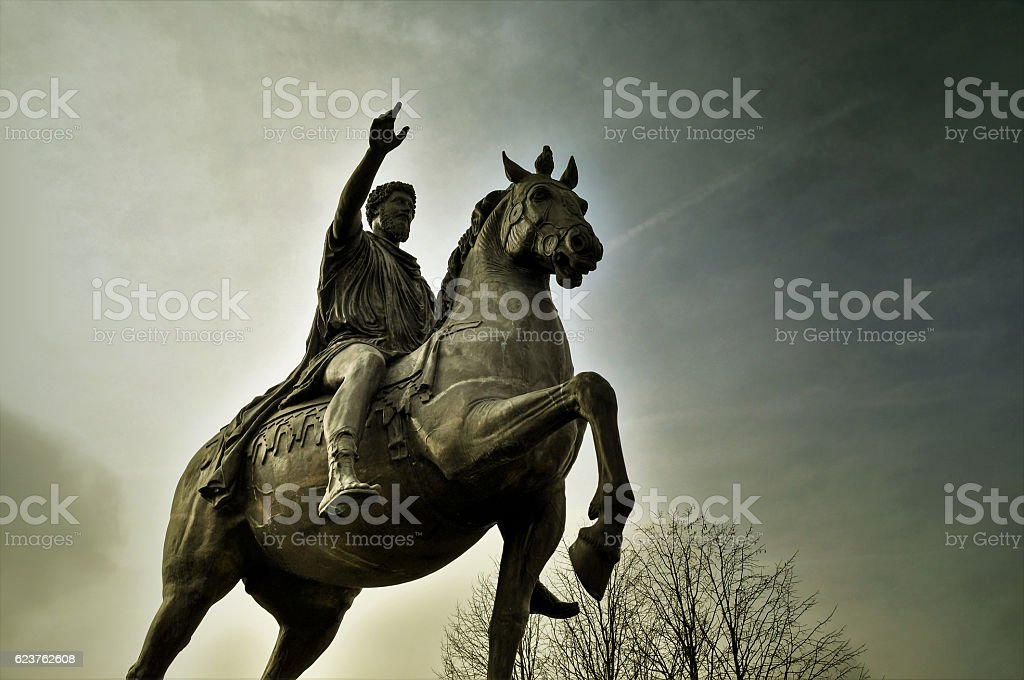 Statue Marc Aurel in Tulln Denkmal von Marc Aurel in Tulln Aurel Stock Photo