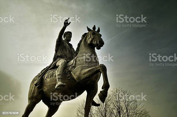 Statue Marc Aurel In Tulln Stock Photo - Download Image Now