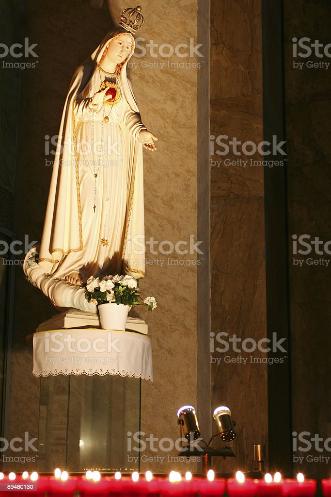 Statue: Mother of God in the cathedral royalty-free stock photo