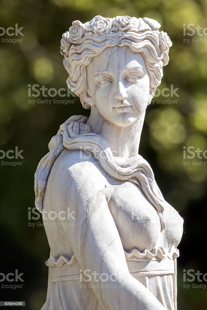 Statue of a beautiful woman stock photo