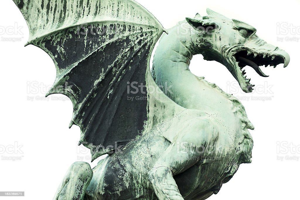 Statue of a Dragon stock photo