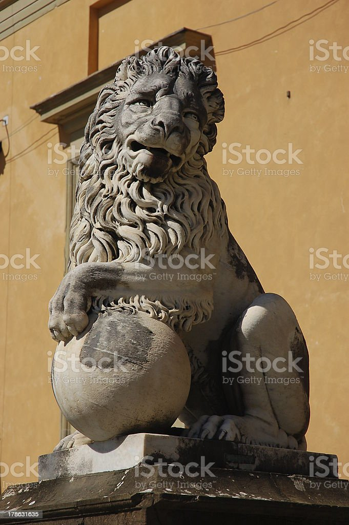Statue of a Lion in Florence royalty-free stock photo