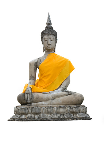 Statue of a sitting Buddha isolated