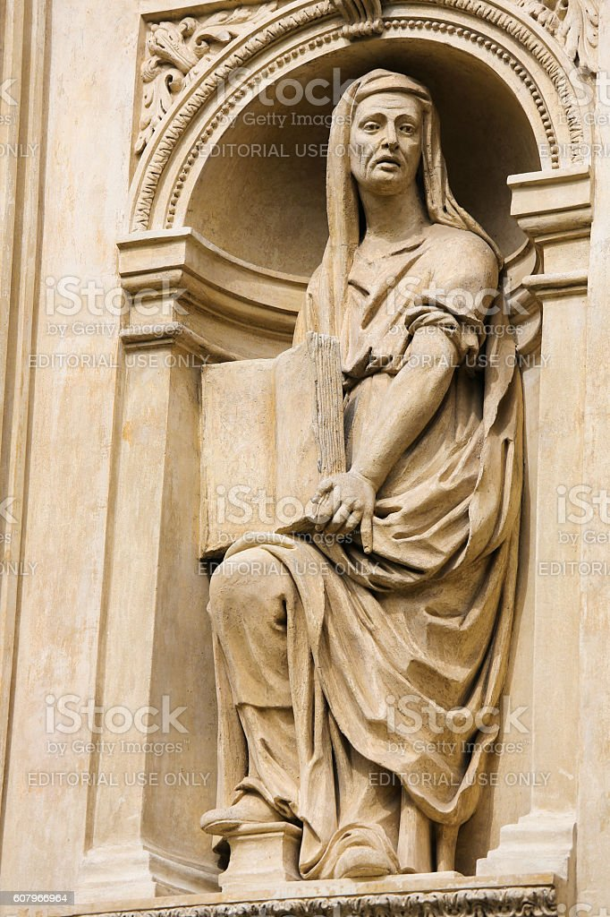 Statue of a Sybil at Prague Loreta stock photo