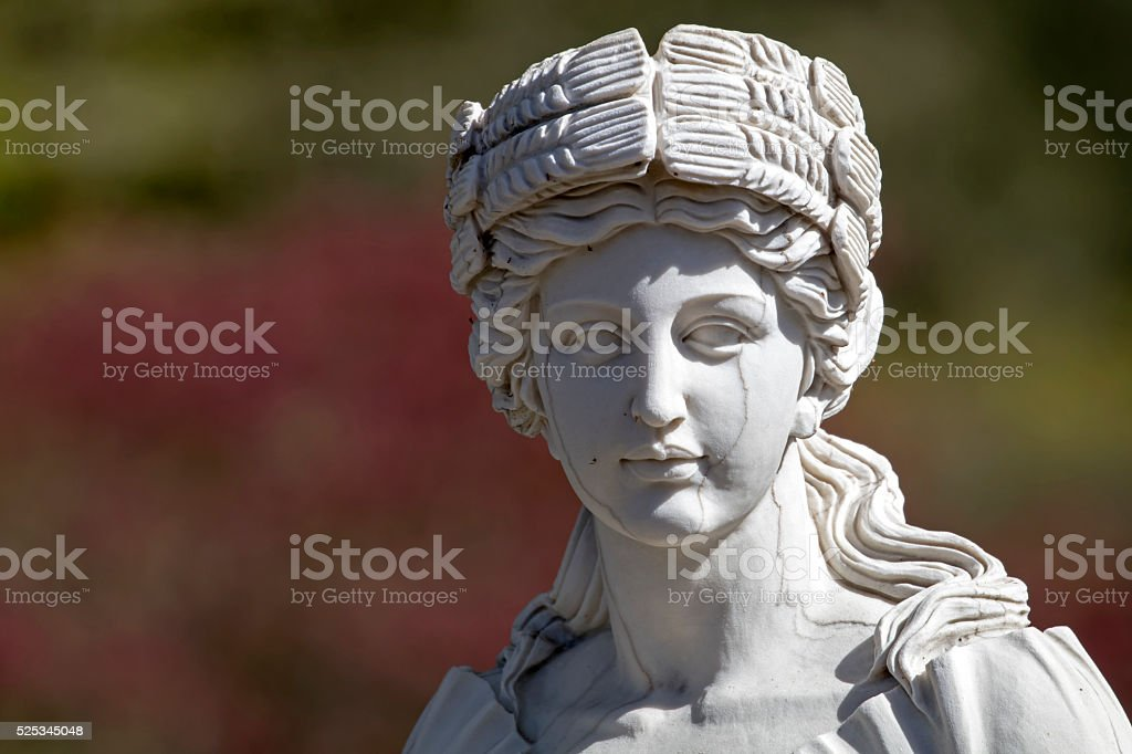 Statue of a woman stock photo