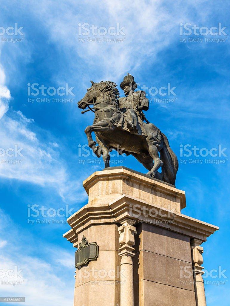 Statue of Ablai Khan in Almaty - Kazakhstan stock photo