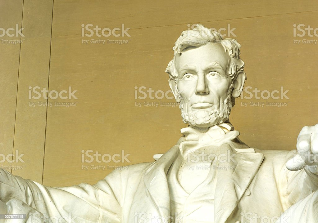 Statue of Abraham Lincoln stock photo
