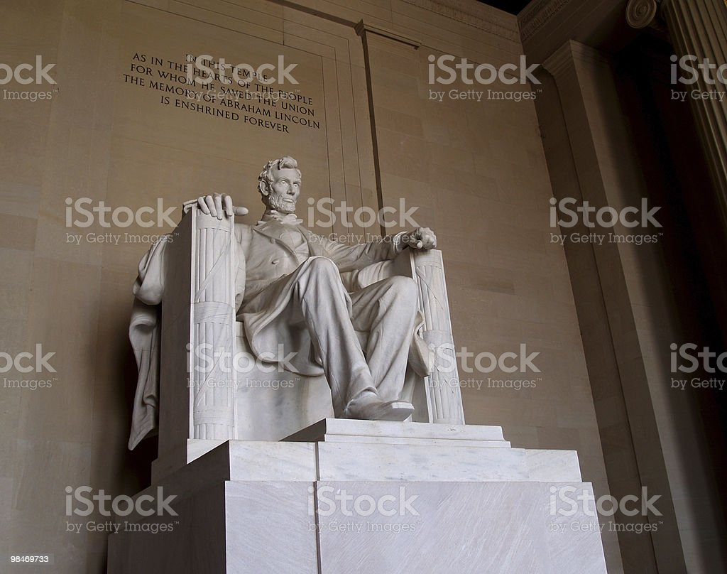 Statue of Abraham Lincoln royalty-free stock photo