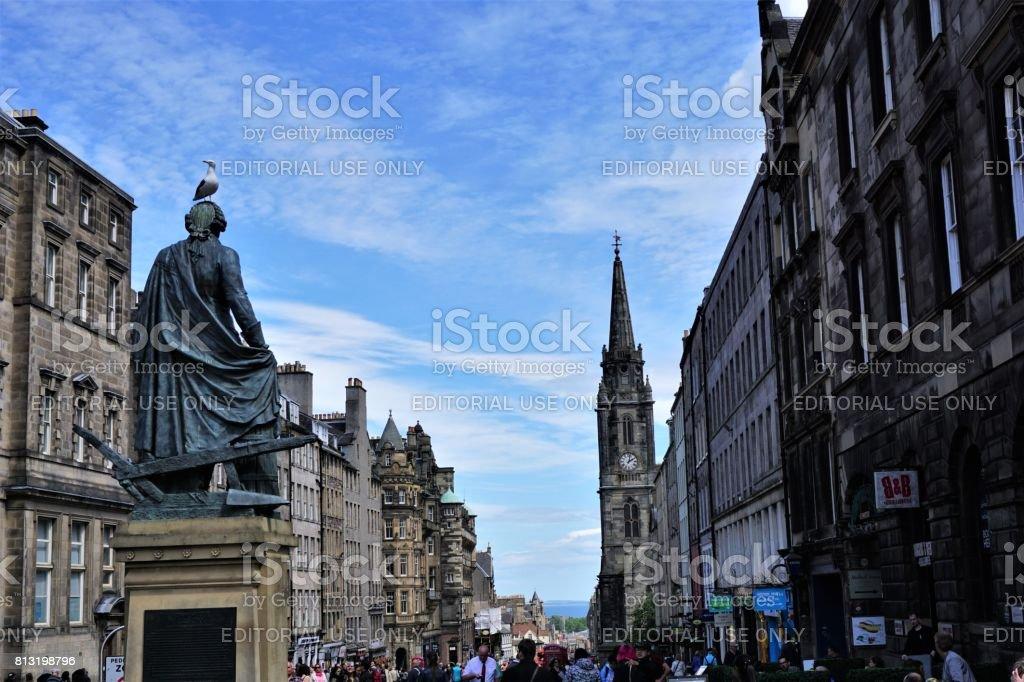 Statue of Adam Smith, Edinburgh stock photo