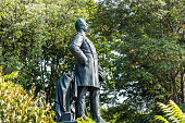 Statue of Albrecht Graf von Roon , a Prussian soldier and statesman, in Tiergarten, near the Victory coloumn Berlin, Germany.