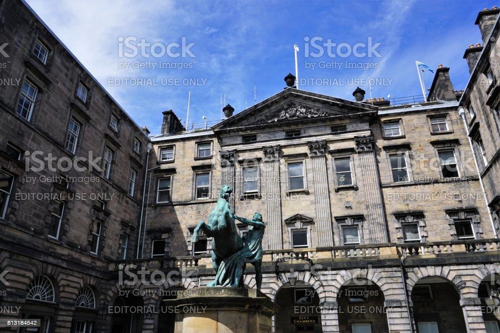 Statue of Alexander the Great, Edinburgh stock photo