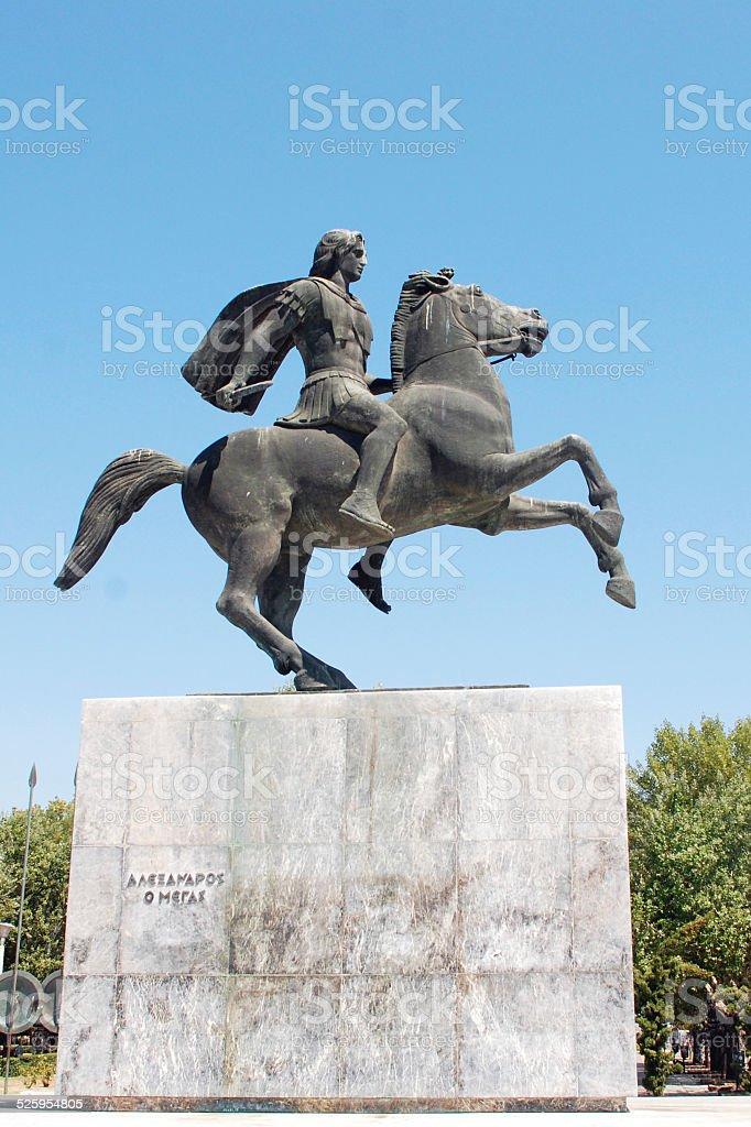 Estátua de Alexandre o Grande de Tessalônica, Macedônia, Grécia - foto de acervo