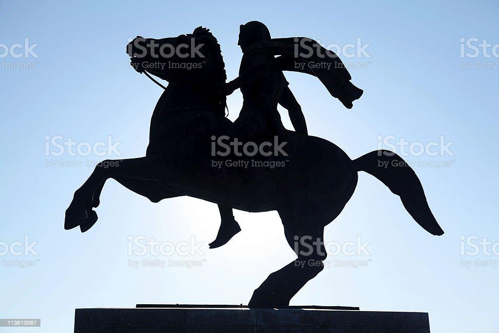 Estátua de Alexandre o Grande - foto de acervo