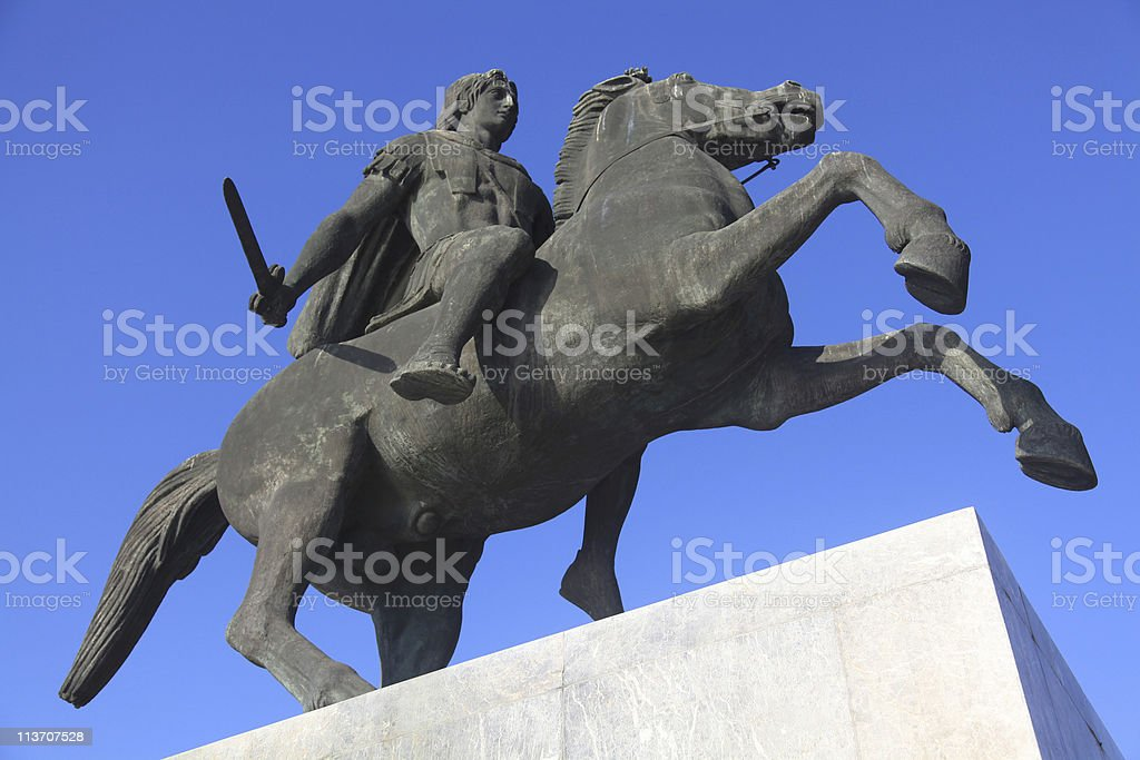 Statue of Alexander the Great stock photo