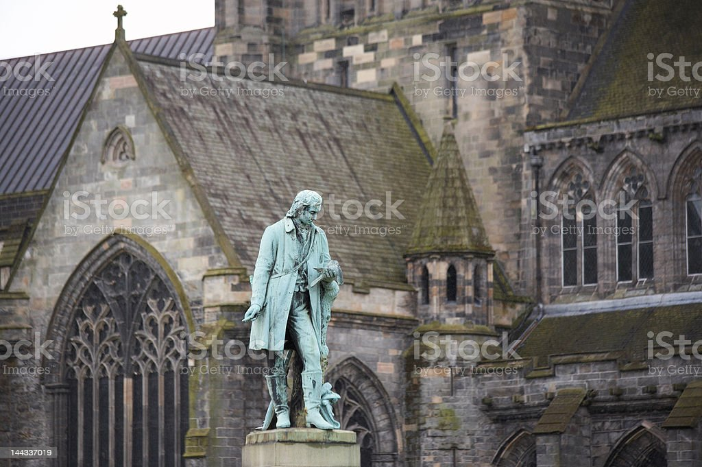Statue of Alexander Wilson in Paisley, Scotland royalty-free stock photo