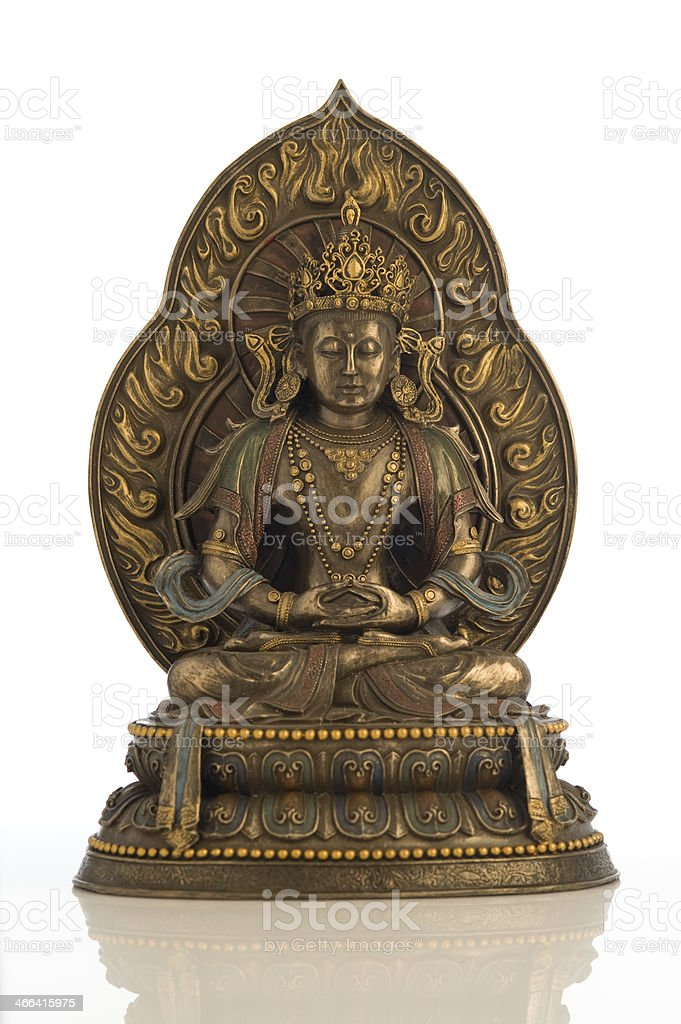 Statue of Amitabha Buddha stock photo