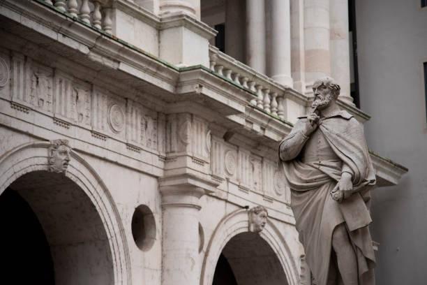 Statue of Andrea Palladio Venetian Renaissance architect, Vicenza, Italy. stock photo