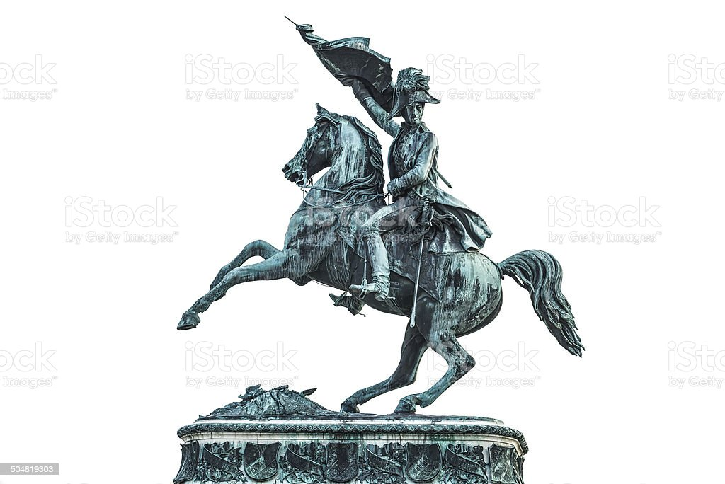 Statue of Archduke Charles of Austria stock photo