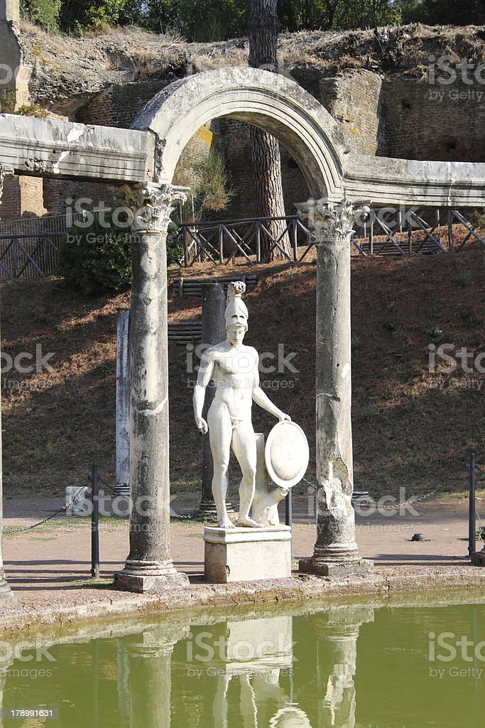 Statue of Ares stock photo