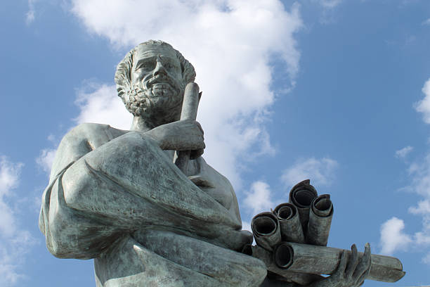 Statue of Aristotle stock photo