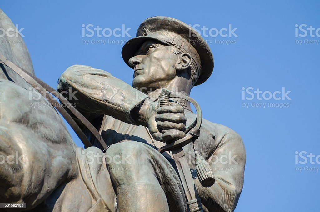 Statue of Ataturk in Samsun, Turkey stock photo